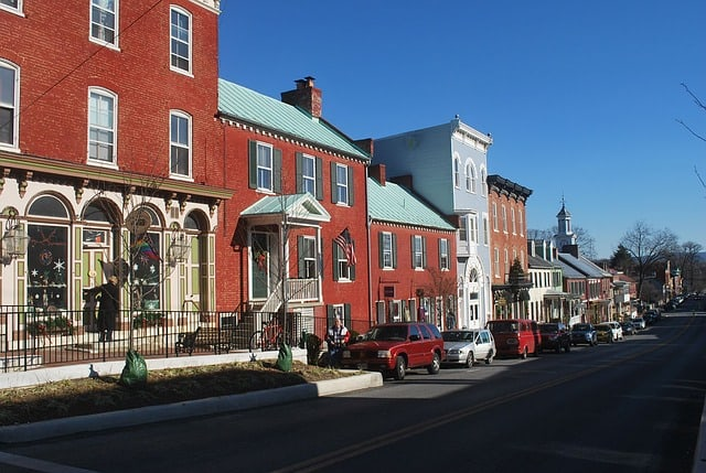 Downtown in fictional Blue Point Cove